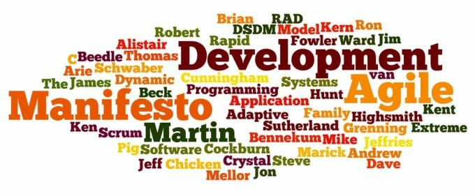 Wordle.net image created by Victor M. Font Jr. for Agile Manifesto article
